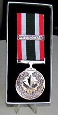 Canadian - The Special Service Medal (SSM) & NATO OTAN Bar Full Size