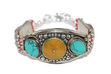 Bracelet Tribal Bracelet Boho Gypsy Amber Bracelet Turquoise Bracelet Silver