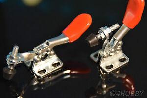 2x Mini-Spanner Halter Drücker Fixieren verstellbar Hebel Metall Schnellspanner