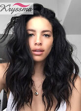 """14"""" Womens Glueless Lace Front Wig Brazilian Remy Wave Human Hair Lace Wigs 150%"""