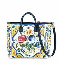 NWT AUTHENTIC DOLCE & GABBANA MAJOLICA BEATRICE FLORAL PRINT TOTE