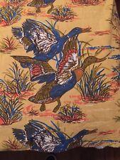Vintage Duck Duvet Cover Hunting Bedding 100% Cotton Blue Tan Orange