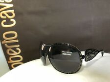 Authentic Roberto Cavalli Sunglasses black grey frame oval shield animal round