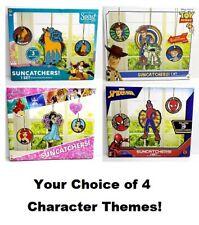 Kids Suncatchers Set Arts Crafts Fun Paint Toy Story 4 Spirit Spiderman Princess