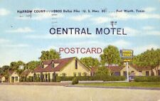 1953 CENTRAL MOTEL (Harrow Court) Owned by Mr & Mrs L H Stubbs FORT WORTH, TX