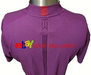 """2020 Tiger Woods TW Dotted Mock Air Shirt CT6078-551 Medium """"Zoom to See Fabric"""""""