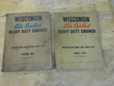 Wisconsin VE4 and VG4D Engine Air Cooled Motor Instruction & Parts List Manuals