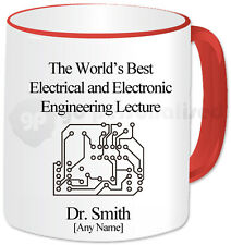 Personalised Best Lecturer Mug- Electrical & Electronic Engineering- Red Handle
