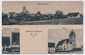 Alte Ansichtskarte Altheim Riedlingen Handlung C01