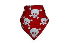 New Funky Giraffe Baby Toddler Bandana Dribble Bib Red White Skulls Crossbones