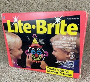 LITE BRITE by Milton Bradley with disney picture refills tested Works         P2