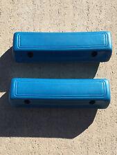 "Mopar Dodge Plymouth B C Body Bright Blue (338) 69/70 9 1/2"" Arm Rest Pads NEW"