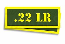 ".22 LR Ammo Can Labels for Ammunition Case 3"" x 1"" stickers decals 2 PACK -AG"