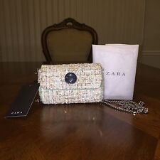 NWT Zara Fabric Mini Messenger Bag