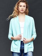 Gap Women's Open Front Cardigan, Linen Blend, Daybreak Blue, Solid, Size L, NWT