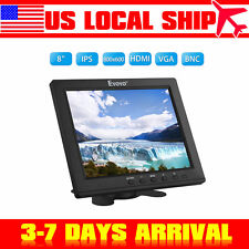 "8"" IPS LCD Monitor 800x600 HDMI BNC AV VGA Wide Screen for Home Security CCTV PC"
