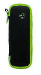 Harrows Blaze Darts Case - Green. Holds Fully Assembled Darts.