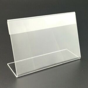 Tag Plate Stands L-shaped Label Tool Transparent Price tags 25 Pcs Newest