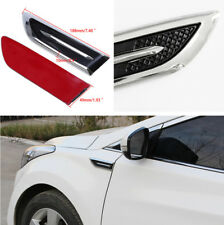 2Pcs Car Decorated 3D Vent Air Flow Fender Decal Side Cover Badge Emblem Sticker