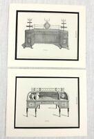 1899 Antico Set Di Impronte Sala Camera Credenza Tavolo Thomas Sheraton Mobili