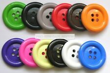 4 x Large Clown Buttons ( Choice Of Size & 12 Colours )