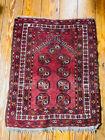 Antique Turkmen Ersari Wool Prayer Rug Unusual size 2.6x3.3