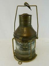 "Vintage Anchor Nautical Copper Oil lantern -""Maritime"" Fresnel Lens Lantern"
