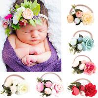 1PC Fashion Elastic Baby Kids Handmade Flower Headband Hairband Wreath Headdress