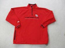 VINTAGE Nascar Sweater Adult Large Red Black Dale Earnhardt Jr Budweiser Mens *