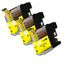3 PK YELLOW Ink Cartridge plus Chip for  Brother LC103 MFC J285DW J470DW J475DW