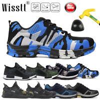 Mens Safety Steel Toe Work Shoes Indestructible Bulletproof Lightweight Sneakers