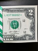 STAR NOTE $2 DOLLAR BILLS (very rare), San Francisco 2013, Uncirculated Mint
