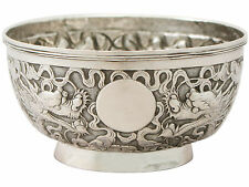 Chinese Export Silver Bowl - Antique Circa 1890