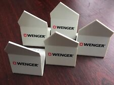 Wenger Swiss Army Knife lot of 5 white stands for knives (#2)