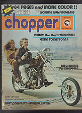 Street Chopper Ron Ebert Daytona Gary Hetrick Hardtail Review March 1973