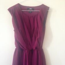 Miss Sixty Red Burgundy Ruched Party/Cocktail Dress Sleeveless Size 2
