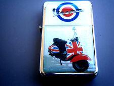 Vespa Scooter White Star Zigarettenanzünder & Extra Zippo Feuersteine British Union