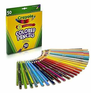 Crayola Colored Pencils Art Tools 50 Count Perfect for Art Projects and Adult