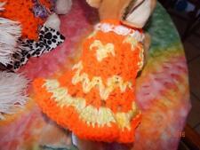 XXXS Dog Apparel Lighted FLAME JACK O'LANTERN Sweater w/RUFFLES