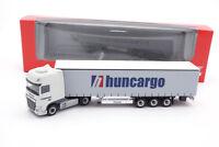 "#307154 - Herpa DAF XF SSC Euro 6 Gardinenplanensattelzug ""Huncargo"" (HU) - 1:87"