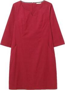 White Stuff WOMENS Red Cotton Mari Cord Dress Winter wear Size 8/22 RRP: £69.95