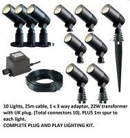 Techmar Alder Garden Outdoor Light Kit 12v  LED 10 Light Kit Plug and Play