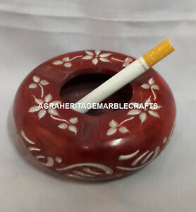 Hand Carved Design Marble Ashtray Cigarette Holder For Occasional Gift H4310