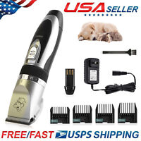Pet Dog Cat Clippers Electric Hair Trimmer No Noise Shaver Scissor Grooming Kit