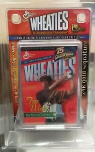 Lot of 11 Tiger Woods Mini Wheaties Box 1998 24K Gold Signature *NEW*