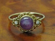 18kt 750 Gelbgold Ring mit Brillant & 4,00ct Sternrubin Besatz / 4,3g / RG 58