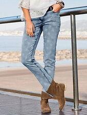 Aniston Jeans 20 Stretch Röhrenjeans 40 L30 Blue Denim Used Blau Hose Sterne NEU