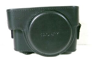 Genuine Black Leather Camera Case for Sony - Case Only No Strap