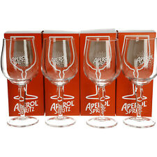 More details for 4 x aperol spritz cocktail glass brand new. white top  new clear design