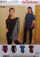 Simplicity 8453 Misses Knit Tops  Sizes: XXS - XXL  New Release!